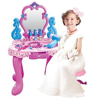 Simulation Dresser's Puzzle Toy Makeup Table Set Does Not Include Seat's