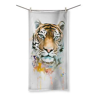 Tiger colors beach towel
