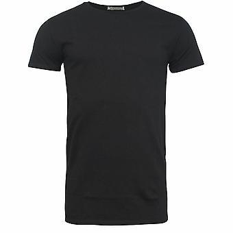 Onitsuka Tiger Plain Black Short Sleeve Crew Neck Mens T-Shirt 0KT071 0090 R8C