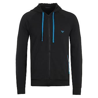 Emporio Armani Loungewear Zip Hooded Sweatshirt - Black
