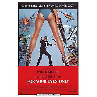 James Bond For Your Eyes Only Postcard