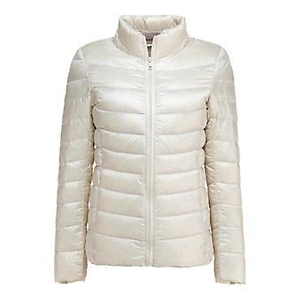 女性ウルトラライトダウンフェザージャケットプラス女性&アポス;オーバーコートウィンドブレーカーコート