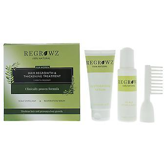 Regrowz Hair Growth & Thickening Treatment For Women - Three Months Supply