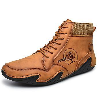 Hombres High Top Zapatos Casual 8899 Marrón