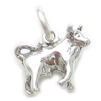 Taurus The Bull Sterling Silver Zodiac Charm .925 X 1 Bulls Zodiacs Charms - 3712