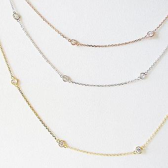 Cubic Zirconia Femeie Anklets, Casual / sportiv, Sterling Sillver, Bratara bijuterii