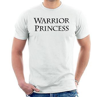 Xena Warrior Princess Text Men's T-Shirt