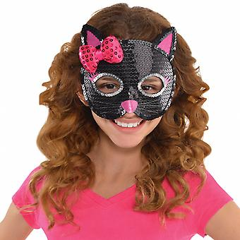 Mask Cat Girls Black/Pink One-Size