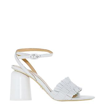 Halmanera Brigit36tofu Women's White Leather Sandals