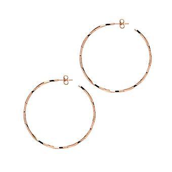 The Hoop Station La LAGO Di COMO Rose Gold Plated 46 Mm Hoop Earrings H95R