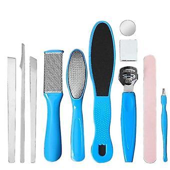 11 Pcs/Set Fuß Pediküre Werkzeug Peeling verhindern tote Haut Maniküre Set für Fuß Haut Pflege Cuticle Kit Entferner