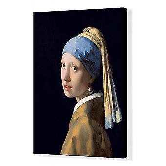 Dziewczyna z perłowym kolczykiem, c.1665-6 (olej na płótnie). Wydruk kanwy pudełkowej. XOS1109249 Dziewczyna z.