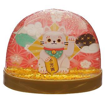 Verzamelbare sneeuwstorm - gelukkige kat maneki neko