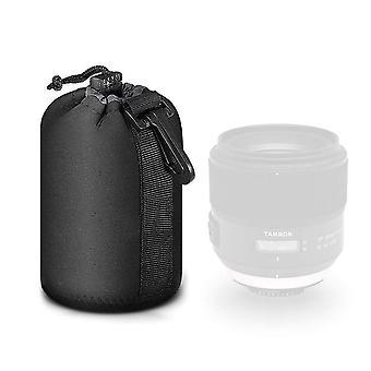 Mekingstudio preto protetor cordão macio neoprene dslr câmera bolsa de bolsa de lente para nikon canon ni wof03945