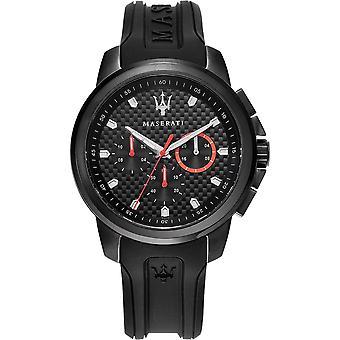 Maserati R8851123007 Montre-bracelet Sfida Chronograph Black Strap