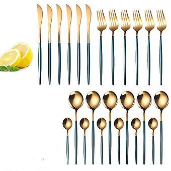 Servise sett - rustfritt stål servise kniv, skje og gaffel kit