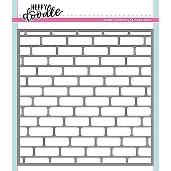 Heffy Doodle Brick Par Brick Stencil