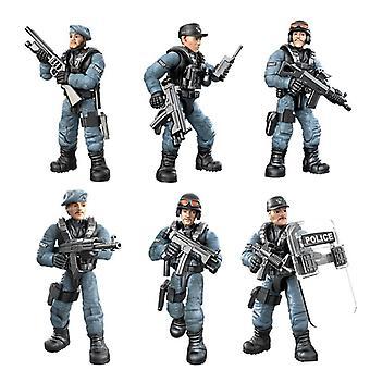 Special Police Team Swat Figurer Byggblock