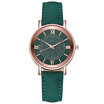 Imitation Leather Belt / Star Sky Dial Clock Quartz Wrist Watches