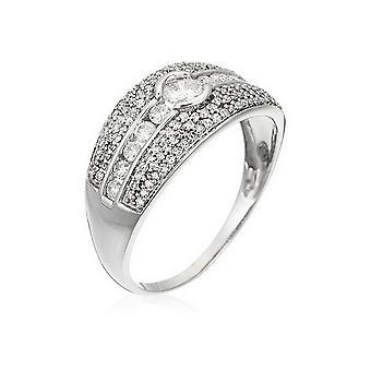 Bague 'Jonc Lumineux' Or blanc et Diamants