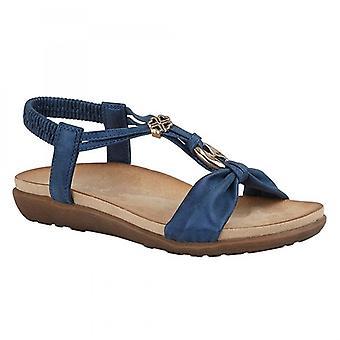 Cipriata Zana Damer Ankle Strap Guld utsmyckade Sandaler Blå