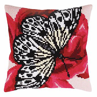 Collection d'Art Cross Stitch Kit: Cushion: Butterfly Graphics