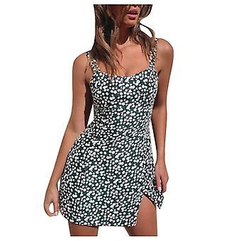Sexy Floral Mini Dress, Ladies Strapless Party Dress, Tennis Dress