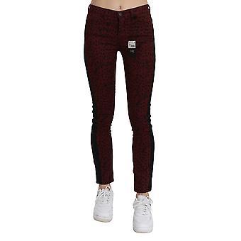 Kostüm National Dark Red Mid Waist Slim Fit Cotton Jeans - PAN70641