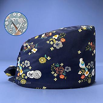 Unisex Kvetinová tlač Matná bavlna Priedušná dojčiaca čiapka