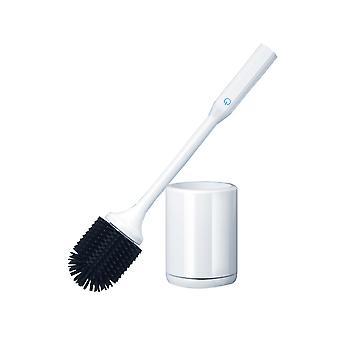Smart Electric Toilet Brush and Holder Set for Bathroom White