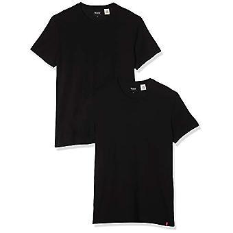 Levi's Slim 2Pk Crewneck 1 T-Shirt, Two-Pack Tee Black + Black, L (Pack of 2) Men