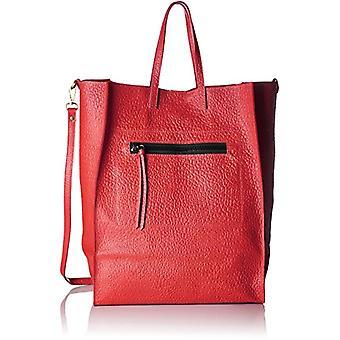 Bag Gem 8622, Bolso de hombro para mujer, Rojo, 46x34x16 cm (An x Al x Al)