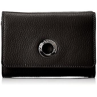 Mandarin Duck Mellow Leather Portemonnee, Vrouw, Zwart, 3x10x14,5 centimeter (B x H x T)