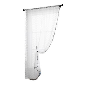 Light Filtering And Privacy Curtain Panel, Rod Pocket Voile Drapes For Bedroom