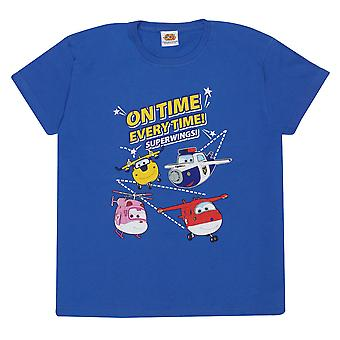 Super Wings Boys On Time Every Time T-Shirt