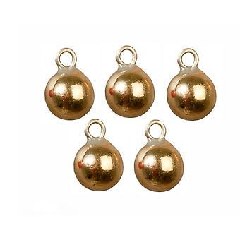 Puppen Haus 6 Gold Kugeln Miniatur Weihnachtsbaum Ornamente Dekorationen 1:12