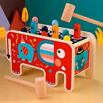 Деревянные Whack-A-моль игры, раннего образования, Детский музыкальный автобус, Baby, игрушка, рука
