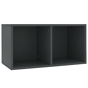 vidaXL Record storage box Grey 71×34×36 cm chipboard