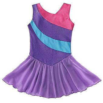 Gymnastics Leotard Dress, Ballet Dancewear Tulle Skirts
