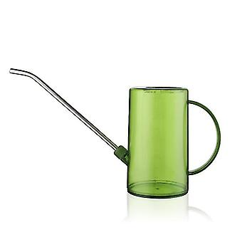 Green watering cans for indoor plants with long spout small watering pot x7517