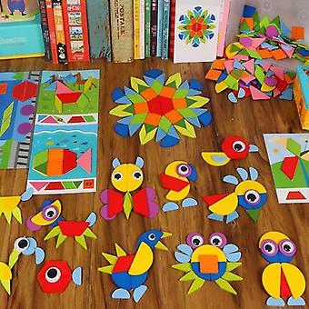 3d Eläimet Puzzle Lapset Puinen Pelejä Luovat Palapelit Varhainen oppiminen