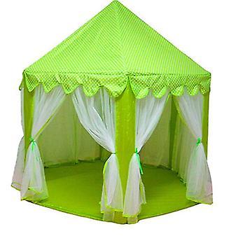 Vihreä leikki talo peli teltta lelut pallo kuoppa uima-allas kannettava taitettava prinsessa taitettava teltta linna lahjat teltat lelu lapsille lapset tyttö fa1680