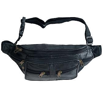 Unisex Multi Zip Verstelbare Taille Tas