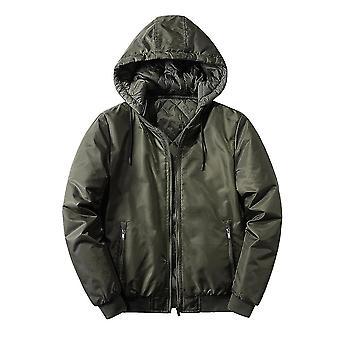 Vert l coton à capuche homme veste réversible homi4348