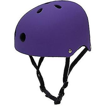 Skateboard Helmet Impact Resistance Ventilation Rock Climbing Ski Sports Helmet(Purple)