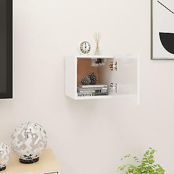 vidaXL TV armoire de télévision brillant-blanc 30,5x30x30 cm