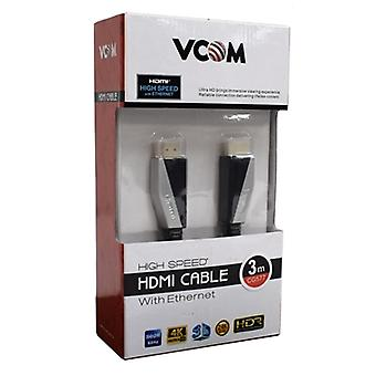 VCOM HDMI 2.0 (M) to HDMI 2.0 (M) 3m Black Premium Ultra HD 4K Supported Retail Packaged Display Cable
