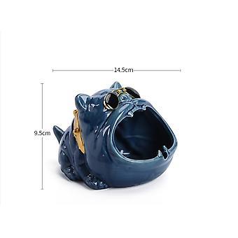 Ceramics Cartoon Dog Ashtray Windproof High Capacity Car Cigar Ashtray Modern Home