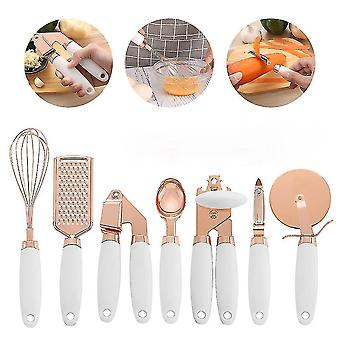 Grater 7pcs Set Home Kitchen Tool With Hole Can Opener Stainless Steel High End Spoon Temperature