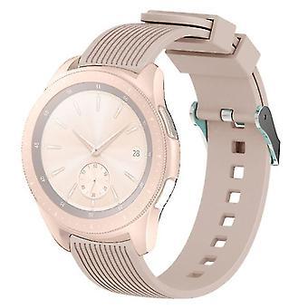 Correa de reloj de pulsera de grano vertical para Galaxy 42mm (Khaki)